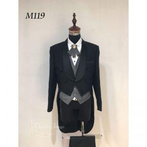 黑色型格燕尾男士禮服 M119
