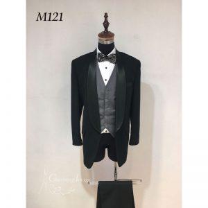 黑色簡潔男士禮服 M121
