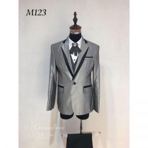 銀色時尚男士禮服 M123