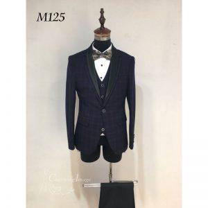 黑色型格男士禮服 M125