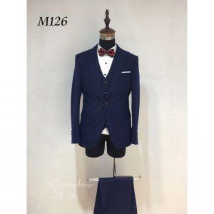 寶藍簡潔男士禮服 M126