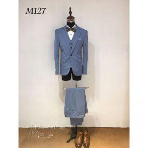 粉藍色韓式男士禮服 M127