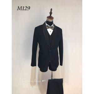 黑色型格男士禮服 M129